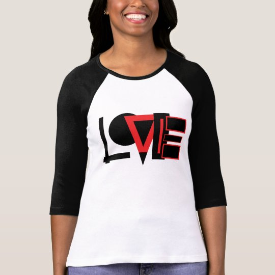T-shirt love of Beautiful+Canvas of sleeves raglán