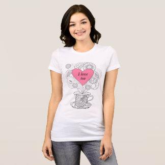 T-shirt love torche pink1