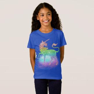 T-shirt magique d'imaginaire de filles de licorne