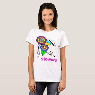T-shirt mandala-basic woman-flower