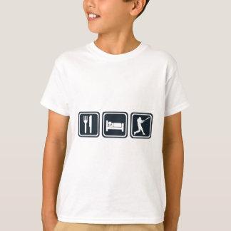 T-shirt Mangez la répétition de base-ball de sommeil
