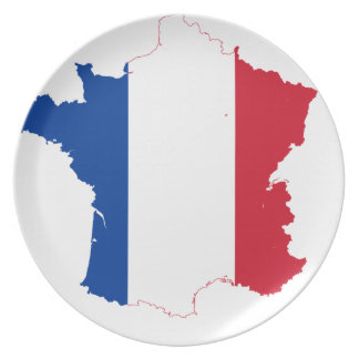 T Shirt map-of-france Plate
