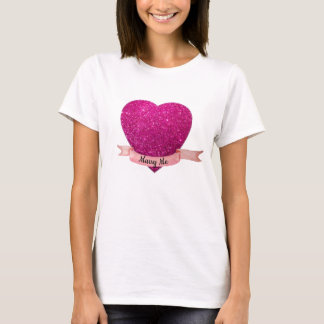 T-shirt Marry Me Pink Heart
