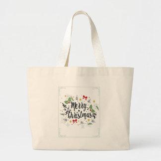 T Shirt Merry Christmas-1 Large Tote Bag