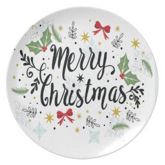 T Shirt Merry Christmas-1 Plate