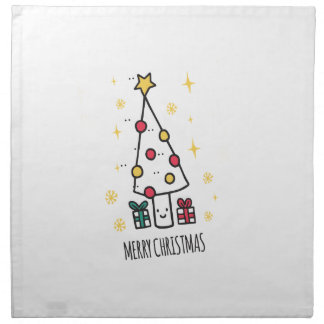 T Shirt Merry Christmas Napkin