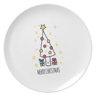 T Shirt Merry Christmas Plate