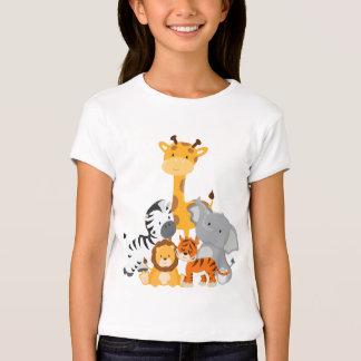 T-shirt mignon d'animal de bébé de jungle