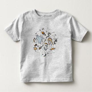 T-shirt mignon de créatures de mer