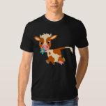 T-shirt mignon de vache à trot de bande dessinée