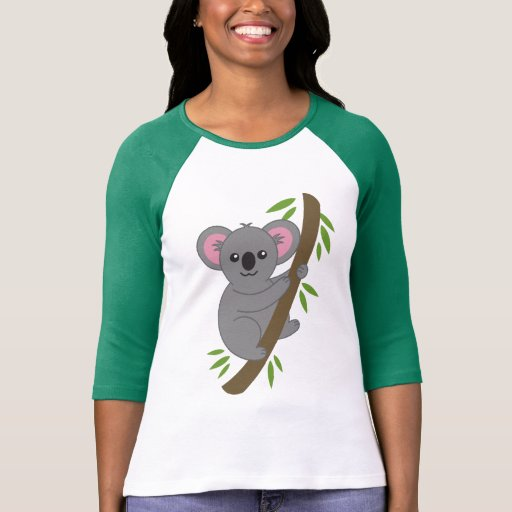 T-shirt mignon d'ours de koala de bande dessinée