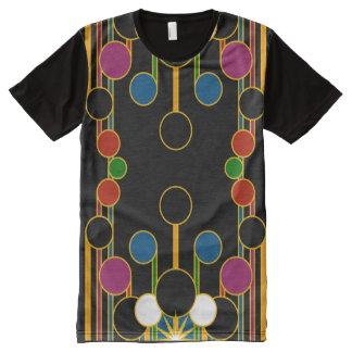 T-Shirt: Modern Geometric #4 All-Over-Print T-Shirt