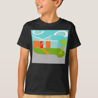 T-shirt moderne de Chambre de bande dessinée de la