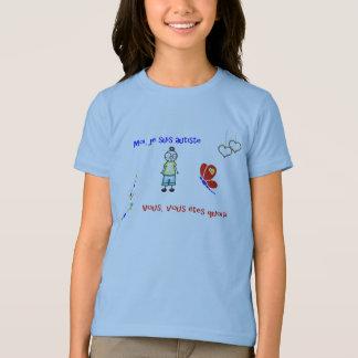 T-shirt Moi je suis autiste blanc