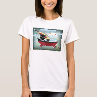 T-Shirt Mother and Baby cat bathtube