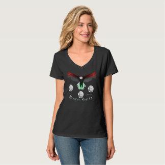 T-shirt nano de V-Cou du football de dames
