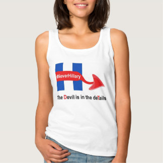 T-Shirt Never Hillary Devil Details