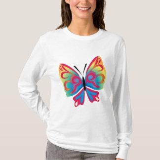 T-shirt of long mangos basic - Design Butterfly