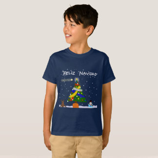T-shirt of Merry Christmas with infantile design