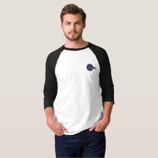 T-shirt of sleeves 3/4 for man. Black target/