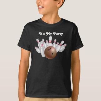 T-shirt Partie orange de bowling