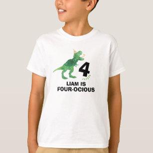 Je suis à quatre Ocious T-shirt KIDS tee-shirt dinosaure Anniversaire Garçon de quatre ans célébrer