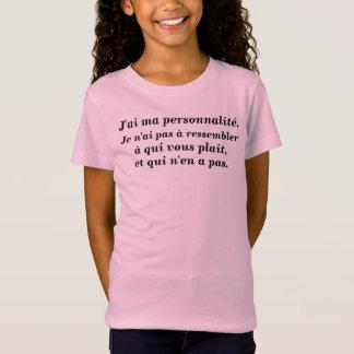 t-shirt personnalité