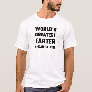 T-shirt Plus grand Farter du monde je veux dire le père