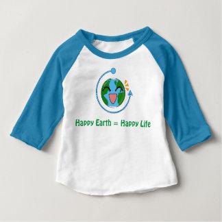 T-shirt Pour Bébé La terre mignonne - la chemise raglane des enfants