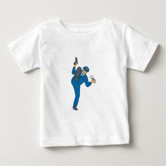T-shirt Pour Bébé Torche de lampe-torche d'arme à feu de policier