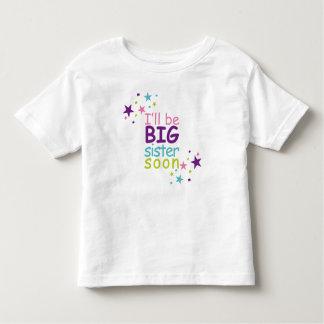 T-shirt Pour Les Tous Petits Big sister soon stars