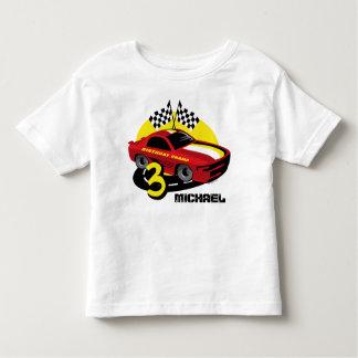 T-shirt Pour Les Tous Petits Chemise d'anniversaire de voiture de course 3ème
