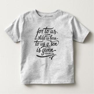 T-shirt Pour Les Tous Petits Chemise inspirée du vers   de bible de Noël