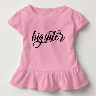 T-shirt Pour Les Tous Petits Lettrage balayé par noir de grande soeur