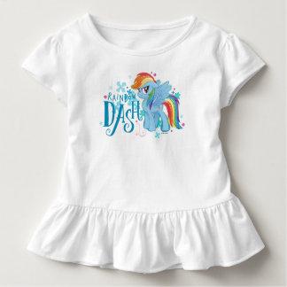 T-shirt Pour Les Tous Petits Mes petites fleurs d'aquarelle de tiret