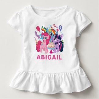 T-shirt Pour Les Tous Petits Mon petit anniversaire rose du poney |
