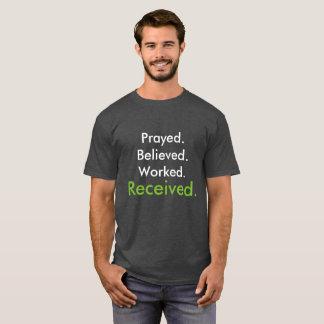 t-shirt. Power. Prayer. Belief. Work. Success. T-Shirt