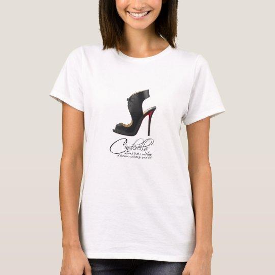 T-Shirt Princess Cinderella Black Shoes Quote