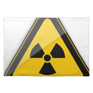 T Shirt Radiation_Hazard_Warning_ Placemat