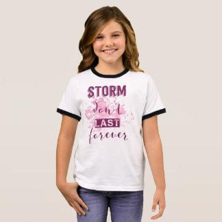 T-shirt Ras-de-cou La tempête de inspiration ne durent pas pour
