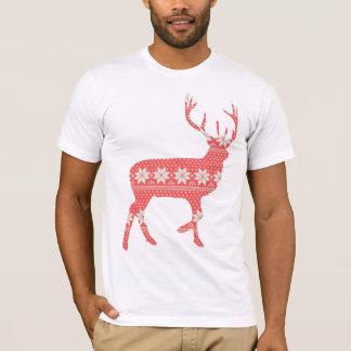 T-shirt Renne de fête