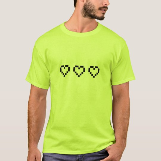 t-shirt,retro heart,green T-Shirt