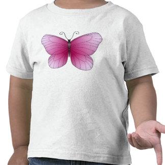 T-shirt rose de papillon