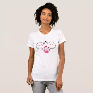 T-shirt rose élégant de publicité de boulangerie