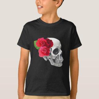 T-shirt Roses et crâne