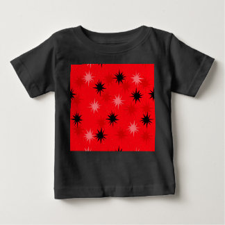 T-shirt rouge atomique de bébé de Starbursts