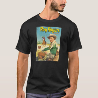 T-Shirt ROY ROGERS 1952 Comic Book Cover ROUND-UP