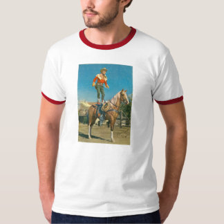 T-Shirt ROY ROGERS Trigger Horse Trick 1952 Ranch