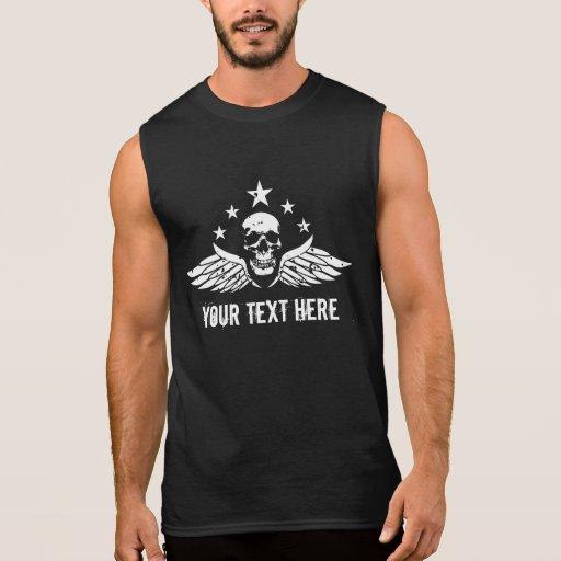 T-shirt sans manche de logo vintage personnalisabl