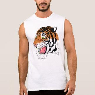 T-shirt sans manche des hommes du coton